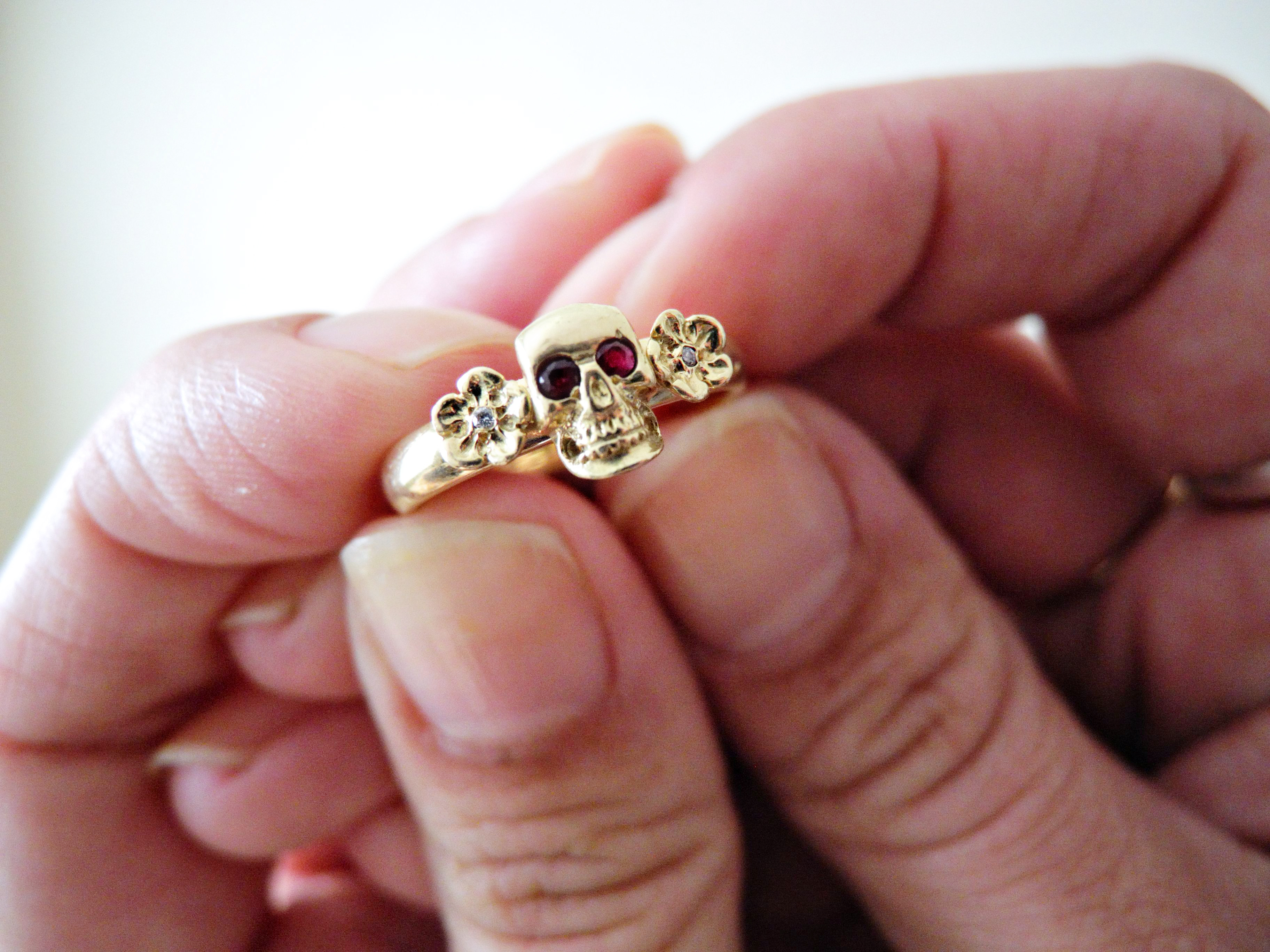 gold skull ruby wedding ring1 2 skull wedding ring gold skull ruby wedding ring1